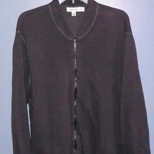 EUC Calvin Klein Men's Heather Black Sweater L